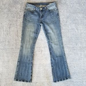 BCBGMaxAzria Sophie Twisted Flare Jeans